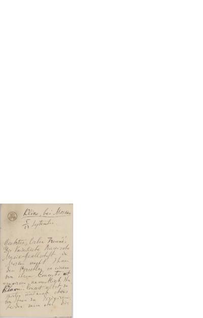 Brev, [1888] 09.17, Klin ved Moskva, til Edvard Grieg