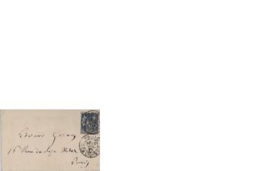 Visittkort, 1894, til Edvard Grieg