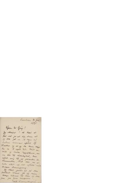 Brev, 1895 07.02, Sandviken, til Edvard Grieg