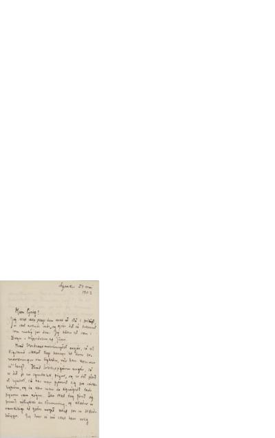 Brev, 1902 05.24, Lysaker, til Edvard Grieg