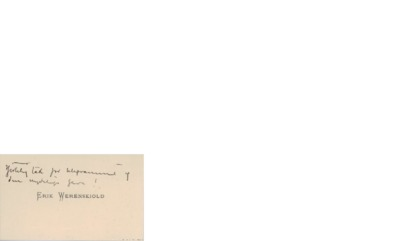 Visittkort, udatert, til Edvard Grieg
