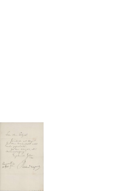 Image from object titled Brev, 1876 02.24, Bayrauth, til Edvard Grieg
