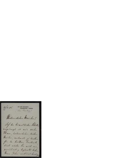 Brev, 1905 11.19, Falkenstein, til Edvard Grieg