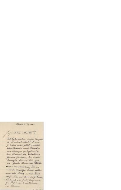 Brev 1903 02.18,  til Edvard Grieg