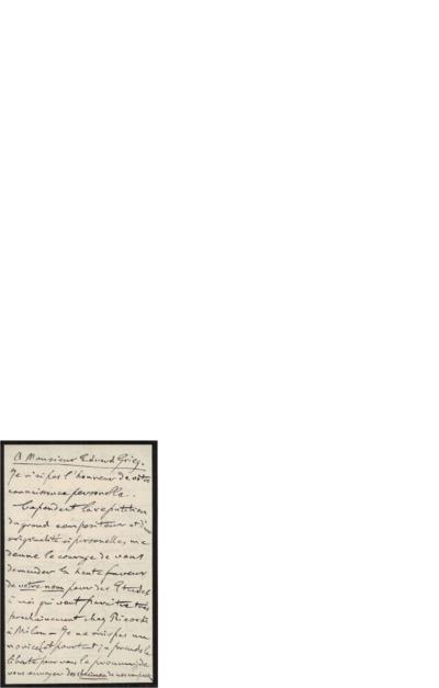 Brev 1900 08.10, Milano til Edvard Grieg