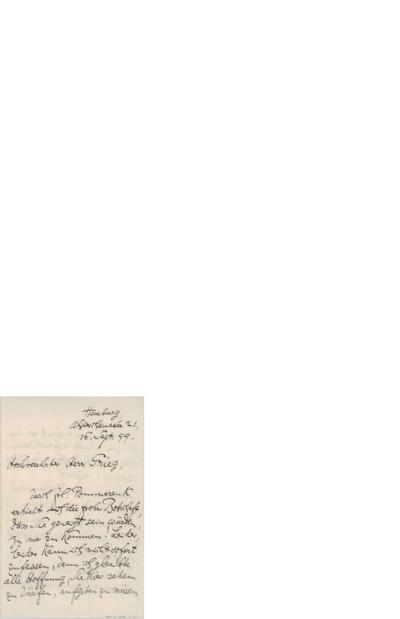 Brev 1899 09.16, HHamburg til Edvard Grieg