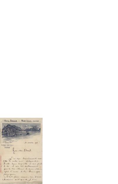 Brev 1899 10.31, Montreux til Edvard Grieg