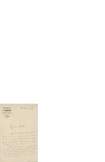 Brev 1899 12.25, Paris til Edvard Grieg