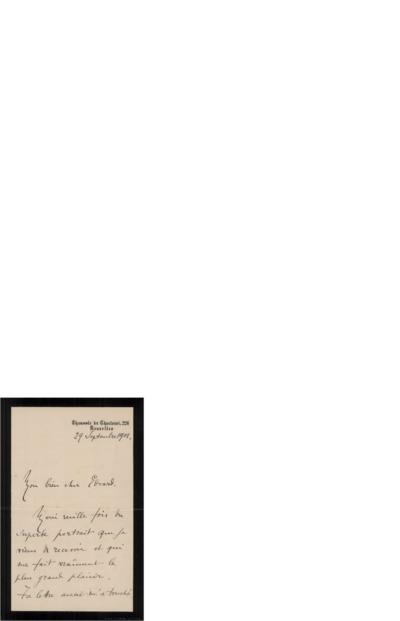 Brev 1901 09.29, Bruxelles til Edvard Grieg