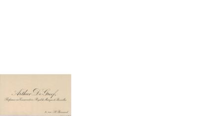 Visittkort udatert, Bruxelles til Edvard Grieg