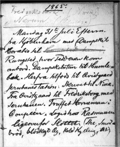 Dagbok 1865 07.31 - 08.09