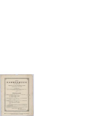 Achte Kammermusik. Kleinen Saale des Neuen Gewandhauses zu Leipzig; Konsertprogram - Leipzig 1888 02.18