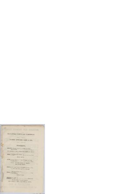 [Konsertserie... Popular concerts]; Konsertprogram - London 1889 02.23, 02.25, 03.09, 03.30