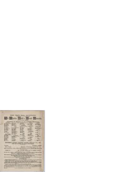 Nineteenth concert; Konsertprogram - Manchester 1889 02.28
