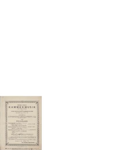 Zehnte Kammermusik. Kleinen Saale des Neuen Gewandhauses zu Leipzig; Konsertprogram - Leipzig 1890 03.22