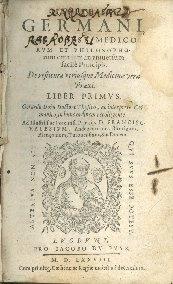 Teophrasti Germani Paracelsi ... De restituta vtriusque medicinae vera praxi. Liber primus. Gerardo Dorn ... ac interprete Germanico, in hunc ordinem recolligente ...