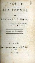 Épître aux femmes, par Constance D. T. Pipelet