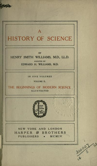 A history of science,