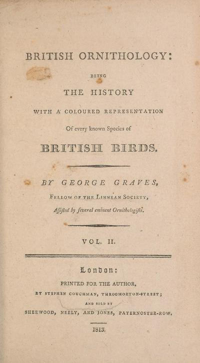 British ornithology : being the history with a coloured representation of every known species of British birds /