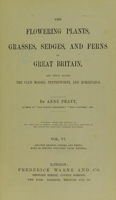 The flowering plants, grasses, sedges, and ferns of Great Britain and their allies the club mosses, pepperworts, and horsetails /