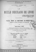 Le muscle orbiculaire des lèvres