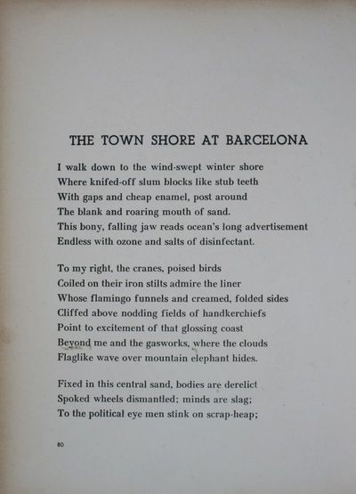 The town shore at Barcelona