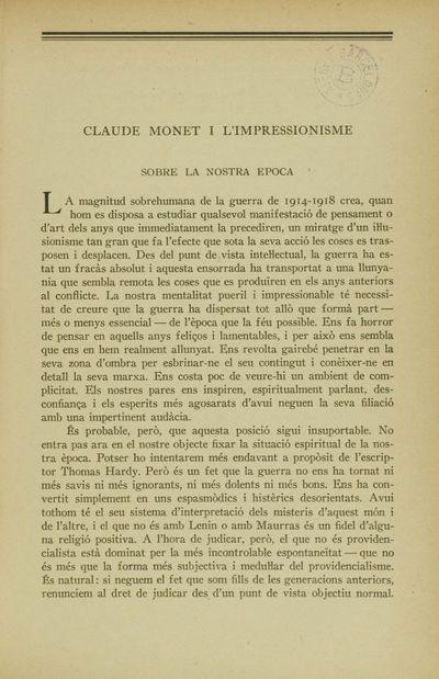 Claude Monet i l'impressionisme