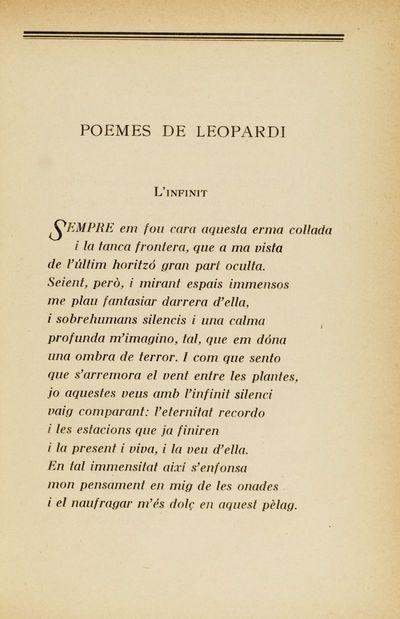 L'infinit [Poemes de Leopardi]