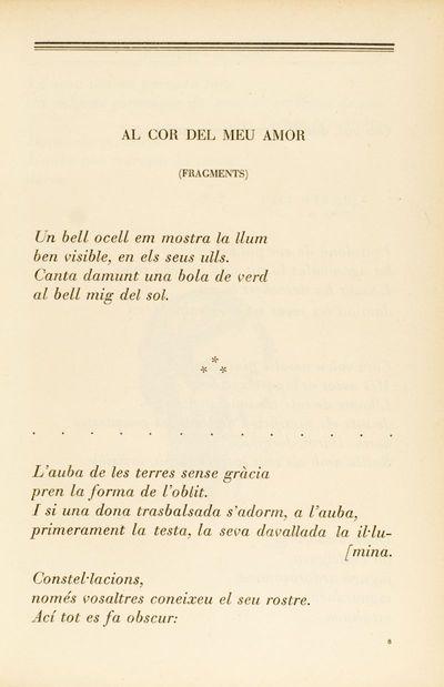 Al cor del meu amor (fragments)