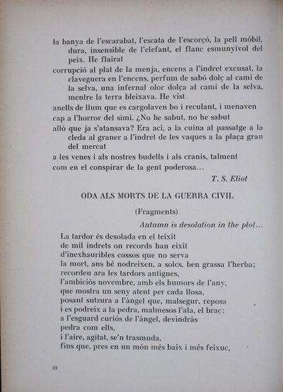 Oda als morts de la guerra civil (Fragments) [Quatre poemes anglesos]