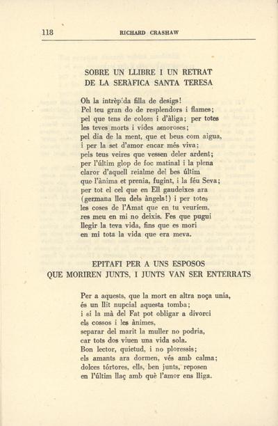 Sobre un llibre i un retrat de la seràfica Santa Teresa