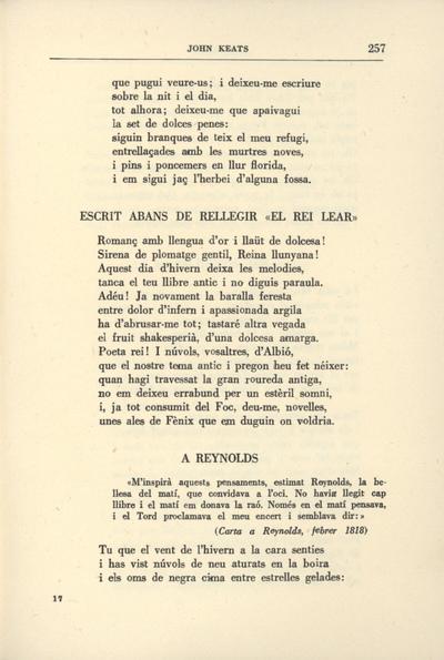 """Escrit abans de rellegir """"El rei Lear"""""""