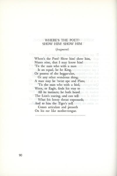 On trobaré el poeta? Ensenyeu-me'l, nou Muses. Fragment