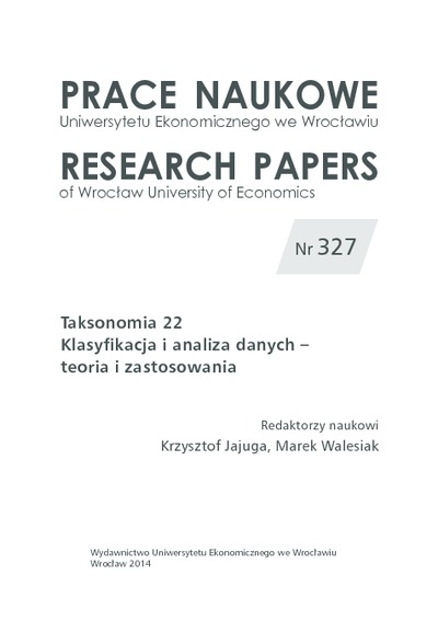 Taksonomiczna analiza krajów pod względem dzietności kobiet oraz innych czynników demograficznych. Prace Naukowe Uniwersytetu Ekonomicznego we Wrocławiu = Research Papers of Wrocław University of Economics, 2014, Nr 327,...