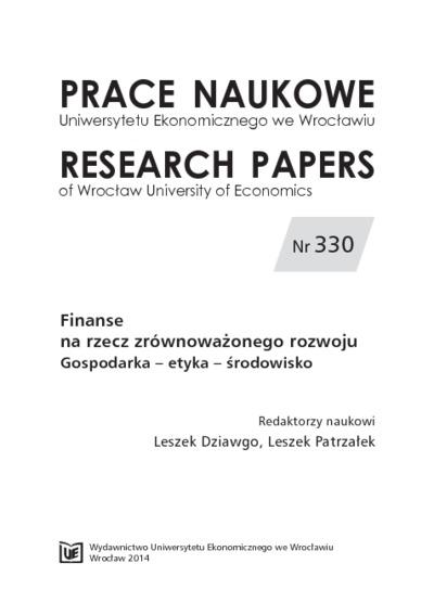 Proekologiczne inicjatywy klastrowe. Prace Naukowe Uniwersytetu Ekonomicznego we Wrocławiu = Research Papers of Wrocław University of Economics, 2014, Nr 330, s. 414-423