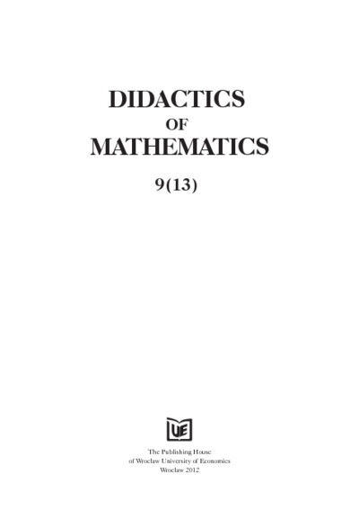 Some reasons why we should teach matrices to students of economics. Didactics of Mathematics, 2012, Nr 9 (13), s. 55-74