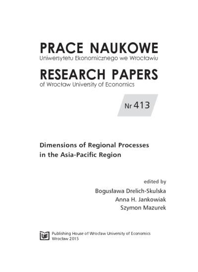 Innovation Networks & Clusters of India. Prace Naukowe Uniwersytetu Ekonomicznego we Wrocławiu = Research Papers of Wrocław University of Economics, 2015, Nr 413, s. 172-185