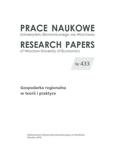 Efektywność innowacyjna systemu triple-helix w Unii Europejskiej. Prace Naukowe Uniwersytetu Ekonomicznego we Wrocławiu = Research Papers of Wrocław University of Economics, 2016, Nr 433, s. 190-198