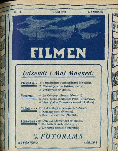 Image from object titled Filmen Nr. 16 - 6. AARGANG 1918 (157-168)