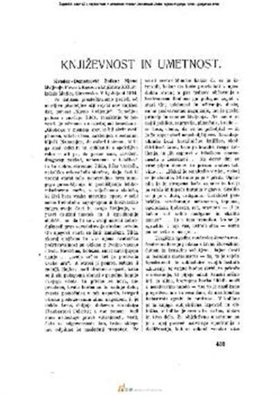 Književnost in umetnost; Kveder-Demetrović Zofka: Njeno življenje