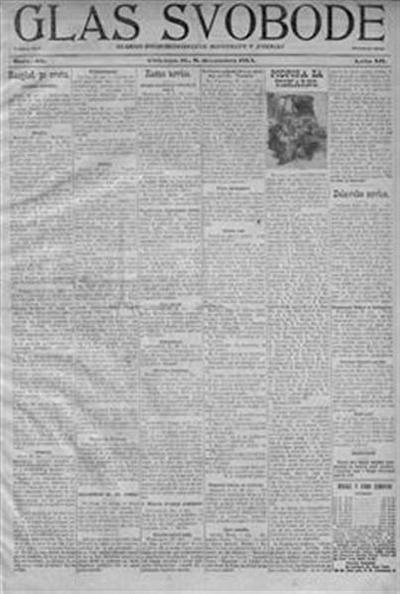 Image from object titled Glas svobode; prvi svobodomiselni list za slovenski narod v Ameriki; The voice of liberty