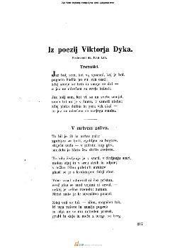 Iz poezij Viktorja Dyka
