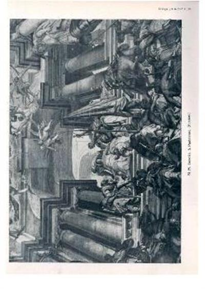 Benetke; S. Pantaleone. Detajl stropne freske