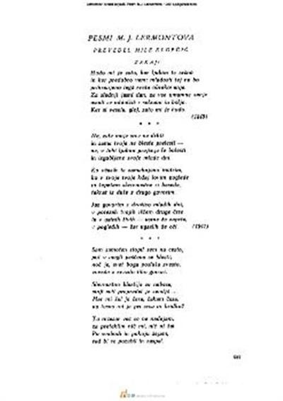 Pesmi M.J. Lermontova
