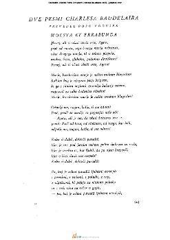 Dve pesmi Charlesa Baudelaira