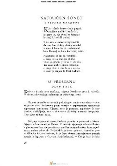 Satiričen sonet