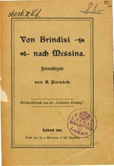 Von Brindisi nach Messina; reiseskizzen