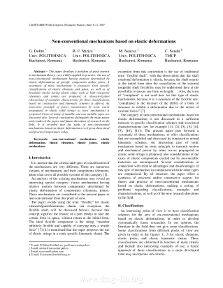 Non-conventional mechanisms based on elastic deformations.