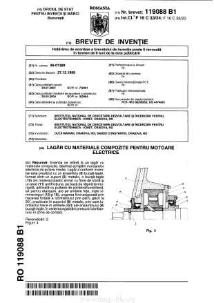 Composite bearings for electrical engines; Lagăr cu materiale compozite pentru motoare electrice