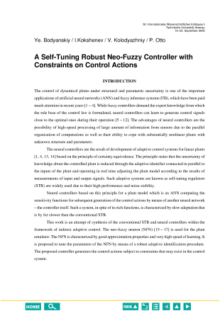 A Self-Tuning Robust Neo-Fuzzy Controller with Constraints on Control Actions